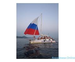 Прогулка на парусной яхте в Новомихайловском
