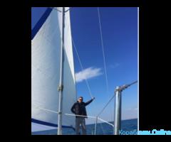 Прогулки на американской яхте под парусом и катере